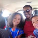 My kids and baby sis Tina