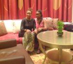 With my baby sis Tina @Al Bandar hotel