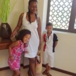 Posing for the pic, aunt Tina, Malaika Imani & Amani Matthew