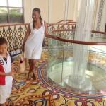 On the way to the breakfast @Al Bandar hotel. Aunt Tina & Amani Matthew