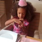 With kofia + chocolate donuts yummy! Malaika kafika hapo