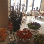 Kids & aunt Tina having a breakfast @Al Tanoor restaurant