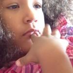 Malaika Imani chilling after breakfast