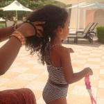 My baby Malaika Imani @Al Bandar hotel pool