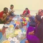 Iftar at Aunty Alia's house with her kids