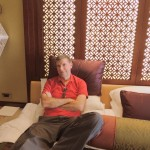 Hubby in our hotel room @Al Husn