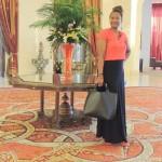 Posing for a pic @Al Bandar hotel lobby