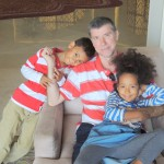 My lovely family hubby, Amani & Malaika Imani @Al Bandar hotel lobby