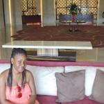 Baby sis Tina @Al Bandar hotel lobby