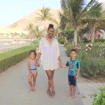 With my kids Amani & Malaika @Al Waha hotel