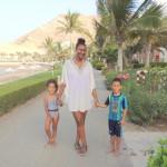 With my kids Amani & Malaika @Al Waha hotel