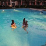 The girls in the pool