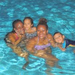 In the pool by night @Al Waha