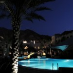 Al Waha pool by night