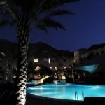Al Waha pool by night