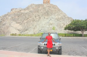 Tina in Muscat (Tina Out & About in Muscat. Aug, 2012)