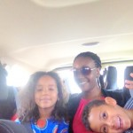 On our way to Shangri-La with aunt Tina and Amani