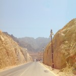 The road to Wadi Dayqah Dam