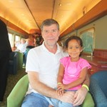Inside the train with my daddy on our way to Alice Spring Australia, Oct. 2011