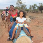 Camel ride in Alice Spring desert Australia, Oct. 2011