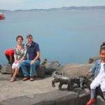 Downtown Hobart Australia with aunt Jenny, dad and Amani. Nov 2011