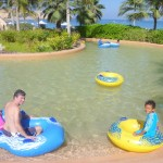 Having fun with daddy & Amani @The lazy river