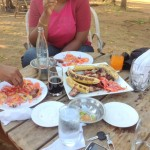 Enjoying my nyama choma @Rudy's farm