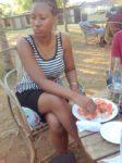 Enjoying my nyama choma @Rudy's farm