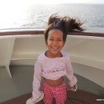 It was a bit breezy our first day at sea!