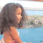 Oranjestad city in Aruba waiting to sail
