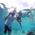 Hubby & Malaika Snorkelling at Bonaire