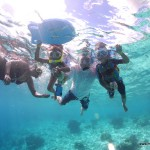 La family Moi, Malaika, Hubby & Amani Snorkelling at Bonaire