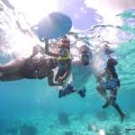 Moi, Malaika, Hubby & Amani Snorkelling at Bonaire
