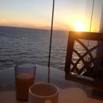 Enjoy my breakfast with beautiful sunrise