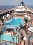 The cruise pool side area