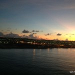 Sunrise, arriving in Aruba