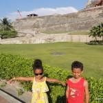 Amani & Malaika in Cartagena Colombia