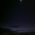 The view of the moon & star