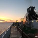 View of sunrise @MSC Poesia Cruise Ship