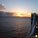 The view from the ship, beautiful sunrise