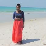 My baby sis Tina @ Kipepeo Village Kigamboni