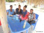 Aunt Judy, mama Amika, Tina, Scola