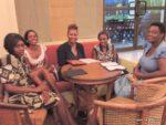 with Celine, Flora, Scolar & aunt Judy @ Southern Sun hotel
