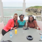 with Irene and Jessie @ Karambezi Sea Cliff hotel