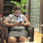my friend Tina @ Grand Hyatt Kilimanjaro hotel