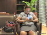my friend Tina @ Grand Hyatt Kilimanjaro hotel