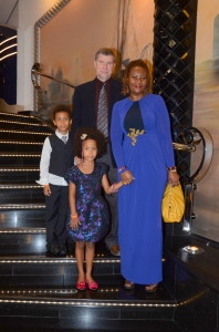 Family photo on MSC Divina cruise ship