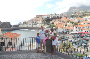 At Camara De Lobos with my family