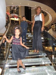 With my kids at MSC Divina Lobby