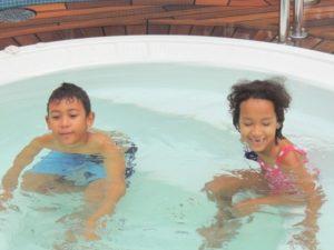 My kids having fun